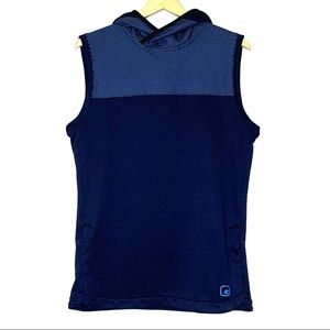 AND1 Navy Blue Hooded Sport Vest